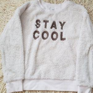 Gap fuzzy sweatshirt